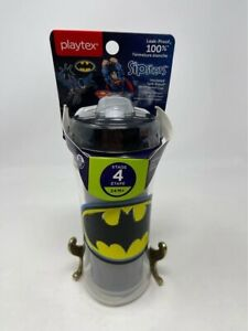 Playtex Sipsters Stage 4 Insulated Straw Cup 12oz Batman Symbol 24M+ BPA Free