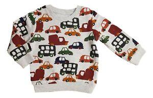 Ex N**T Boys Bus Car Lorry Transport Grey Sweatshirt Top Age 2 3 4 5 Years New