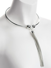 silver colour collar chain tassel necklace costume jewellery gift present
