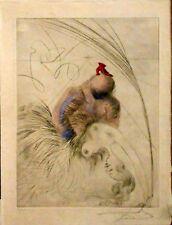 "S. DALI, Original-Farbradierung,  "" Femme a la Chaussure "" handsigniert"