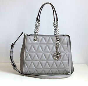 MICHAEL KORS Damen Tasche Bag MD NS TOTE VIVIANNE pearl grey