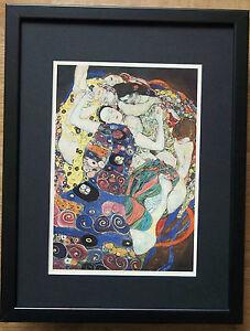Klimt print -12''x16'' Framed Klimt print, The Maiden by Klimt