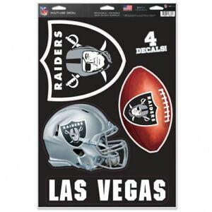 "Las Vegas Raiders MULTI-USE DECAL 11"" X 17"" sheet"