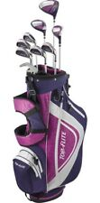 PETITE LADIES 12pc PINK &LAVENDER GOLF CLUB SET wBAG &FREE PUTTER +2 HEAD COVERS