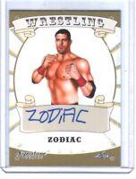 Zodiac 2016 Leaf Wrestling Signature Series Authentic Autograph Card WWE