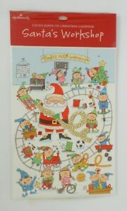 HALLMARK Countdown to Christmas Calendar SANTAS WORKSHOP Elves Train List SEALED