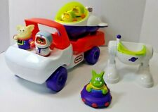 Vintage Little Tikes Toddle Tots Shuttle Truck Spaceship Astronauts Alien Set