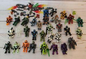 Halo Mega Bloks Mega Construx Lot 31 Figures w Weapons Accessories Mini Set