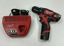 "Milwaukee 2407-20 M12 3/8"" Drill Driver w/ Battery and Charger"