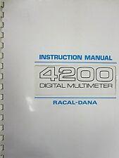 Racal-Dana 4200 Digital Multimeter Instruction Manual 980475