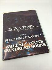 1979 STAR TREK THE MOTION PICTURE Publishing Program folder, photos, order forms