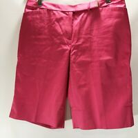 Brooks Brothers Shorts Bermuda Golf Flat Front Cotton Stretch Pink Size 6