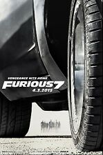 Furious 7 (2015) Movie Poster (24x36) - Paul Walker, Vin Diesel, Statham NEW