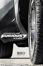 Furious 7 (2015) Movie Poster (24x36) - Paul Walker, Vin Diesel, Statham NEW
