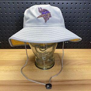 Minnesota Vikings New Era Training Grey Bucket Hat NFL Size L/XL