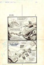 Flash Force 2000 #3 p.1 - Terminus 3 - Matchbox Car 1983 art by Sal Trapani Comic Art
