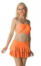 Ladies Girls Women's Neon RARA Mini Short Skirt Dance Club Women Sizes S - L/XL