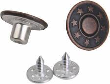 Boutons pression pour jeans anciens argent étoile en métal 20 sets 17mm