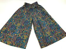 Vtg 80s JANTZEN crazy Abstract Pants Size 8 Colorful high waist Culottes USA