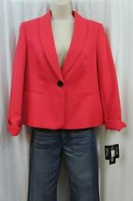 Le Suit Separates Petite Blazer 8P Watermelon Pink Textured Casual Career Jacket