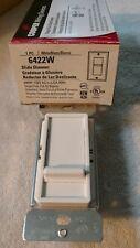 Cooper Wiring #6422w White Single Pole Slide Dimmer 600w 120v Full-on Bypass-NEW