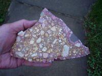 Confetti Jasper Rough Rock Slab 10.70 oz From Mexico