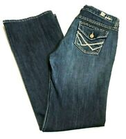 Kut from the Kloth Jeans Sz 8 Bootcut Distressed Flap Pockets 32 x 32 Womens