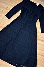 ESPRIT EDC wunderschönes Spitzenkleid Maxi Kleid Gr. 36 neu Häkelspitze Schwarz