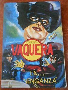 VAQUERA comic book REVOLVER NEGRO vintage ZORRO look alike LONE RANGER WESTERN