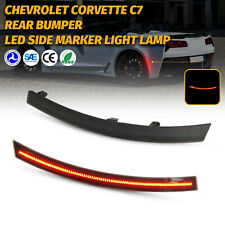 2PC For 2014-2019 Chevy Corvette C7 Smoked LED Red Rear Bumper Side Marker Light