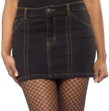 130719 Doomed Dame Stretchy Denim Skirt Sourpuss Pinup Punk Rockabilly Medium