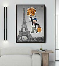 More details for mr monopoly x paris hermes (poster print) alec monopoly inspired - pop art