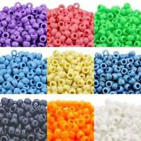 Opaque Pony Beads, All Colours, Multi Listing 100/500/1000, Dummy Clips