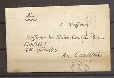 1776 circulaire de Aix pr le Castellet par Olioulles, passage au Beausset X3565