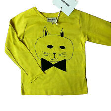 Bobo Choses long sleeve cat with bow tie 6-12 month NWT