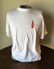 COCA COLA Coke VANCOUVER OLYMPIC 2010 WHITE T-SHIRT LARGE
