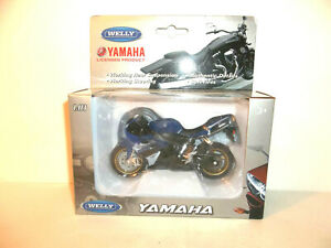 2020 WELLY MOTORCYCLES 1:18 SCALE 2008 BLUE WHITE YAMAHA YZF-R1