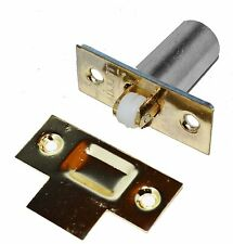 Polished Brass Finish Spring Loaded Ball / Roller Door Cupboard Catch (95020)