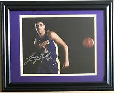 Lonzo Ball Authentic Signed Autograph New Framed LA Matted 8x10 Photo Auto COA