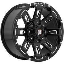 "17"" Inch Ballistic 958 Ravage 17x9 6x135/6x5.5"" +0mm Black/Milled Wheel Rim"