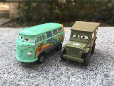 Mattel Disney Pixar Cars Race Team Sarge & Fillmore 2pcs Spielzeugauto Neu Loose