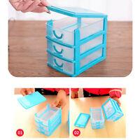 Mini Desktop Cabinets Storage Box Case Holder Bins 2 Or 3 Drawers Organizer