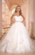Weiß/Ivory Brautkleid Abendkleid Ballkleid Brautjungfer 34 36 38 40 42 44 46 46W