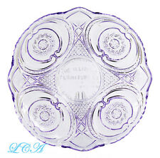 LARGE antique ILLINOIS FURNITURE Co ornate AMETHYST GLASS ad. tray CHICAGO