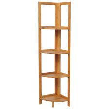 Standregal 4 Etagen Eckregal Bambus Regal Bücherregal Badregal Holz RG9254br