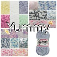 King Cole YUMMY Soft Chunky Knitting Crochet Yarn Wool 100g