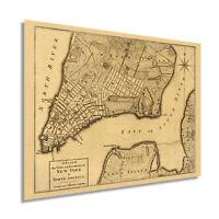 HISTORIX Vintage 1776 Plan of New York City Map Print