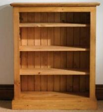 Mottisfont solid waxed pine furniture adjustable shelves bookcase