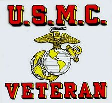US Marine Corp Veteran Decal Sticker
