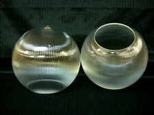 """10"""" Clear Prismatic Plastic Acrylic Round Sphere Globe for Post Light 5.25"""" Hole"""